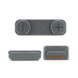 Kit bouton power volume silencieux argent iPhone 5S