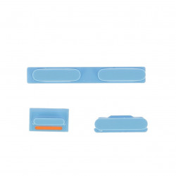 Kit bouton power silencieux volume bleu iPhone 5C