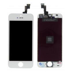 Vitre tactile + écran LCD avec châssis couleur blanche iPhone 5S
