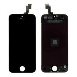 Vitre tactile + écran LCD avec châssis couleur noire iPhone 5S