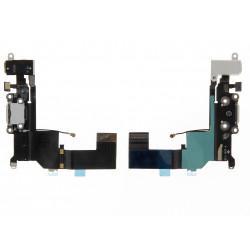 Nappe connecteur de charge blanche, antenne GSM, prise jack et micro iPhone 5S